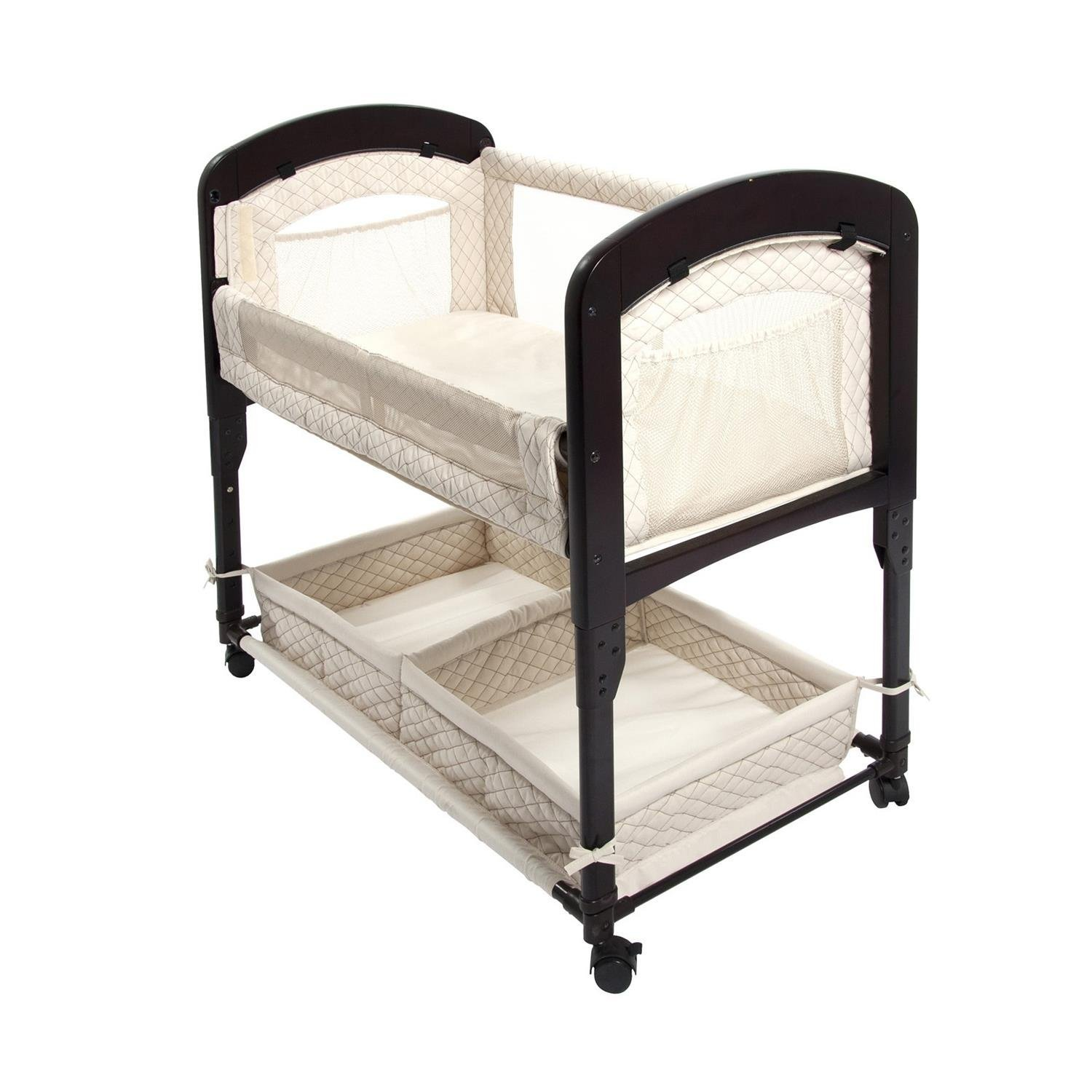 Arm's Reach Cambria Co-Sleeper Wood Clearvue Bassinet