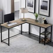 Erommy L-Shaped Computer Desk,Space-Saving Corner DeskHome Office Desk