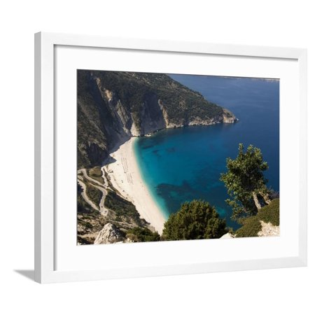 Myrtos Beach, the Best Beach for Sand Near Assos, Kefalonia (Cephalonia), Greece, Europe Framed Print Wall Art By Robert