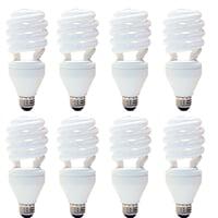 8 Pack - GE Energy Smart CFL 3-Way 16/25/32 Watt 600/1600/2150 Lumen Sprial Light Bulb