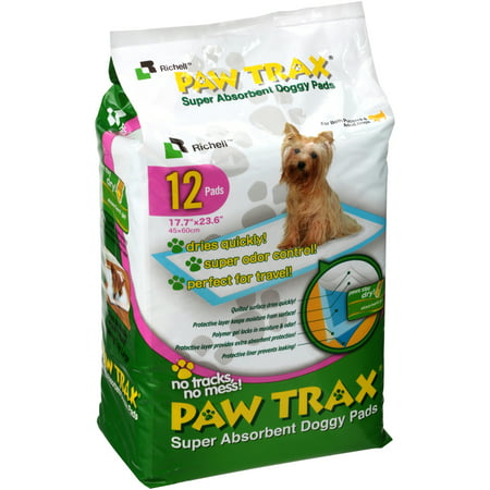 - Richell? Paw Trax? Super Absorbent Doggy Pads 12 ct Pack