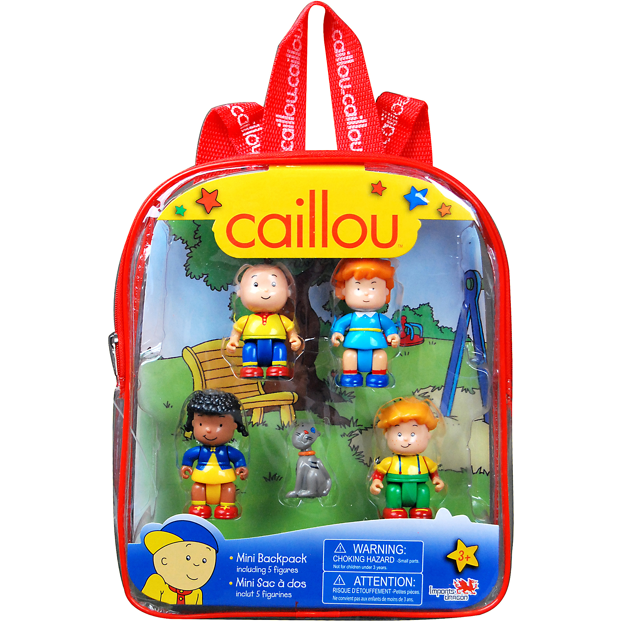 Caillou Mini Figurine Backpacks, Red