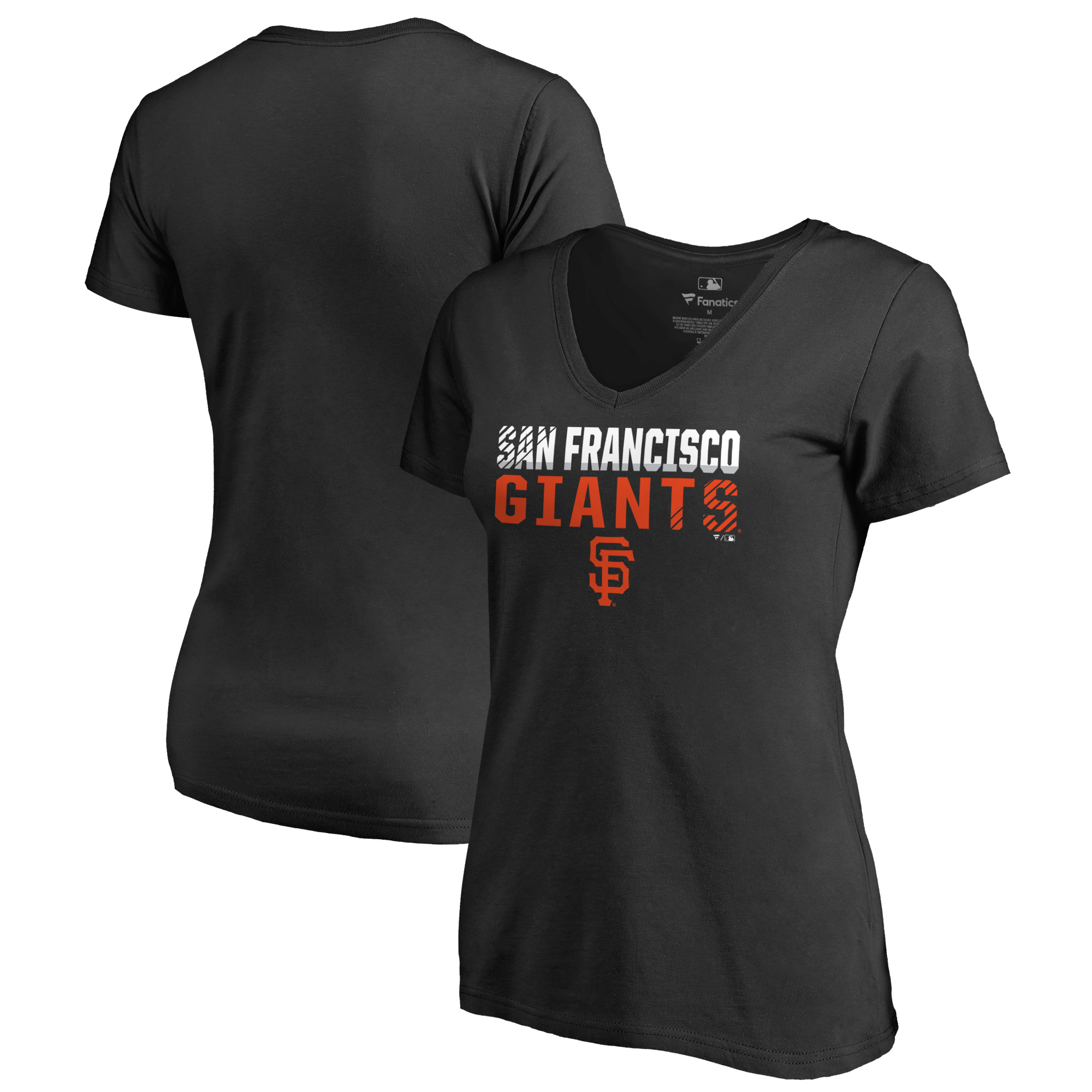 San Francisco Giants Fanatics Branded Women's Fade Out V-Neck T-Shirt - Black