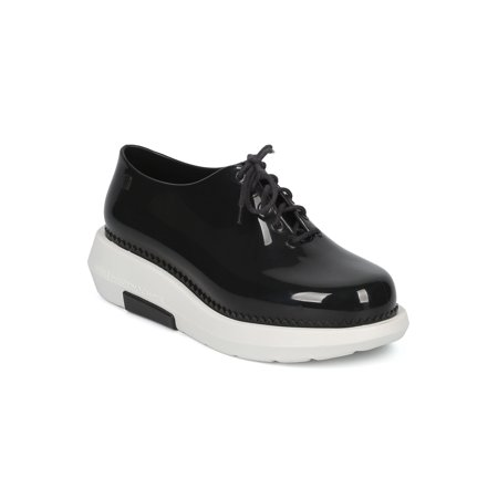 New Women Melissa And Vitorino Campos Grunge PVC Lace Up Platform Oxford