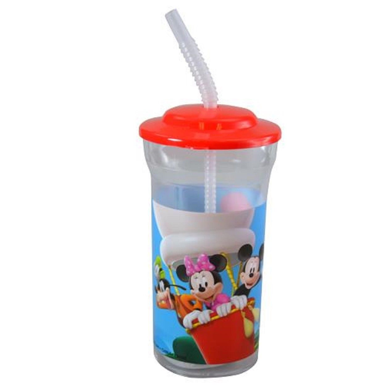 86c5938d15 Drink Bottle - Mickey Mouse - Water Bottle - Red - 16oz - w Straw -  Walmart.com