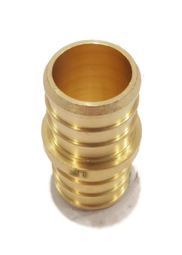 "100 LEAD-FREE 3//4/"" PEX Couplings Brass Crimp Fittings"