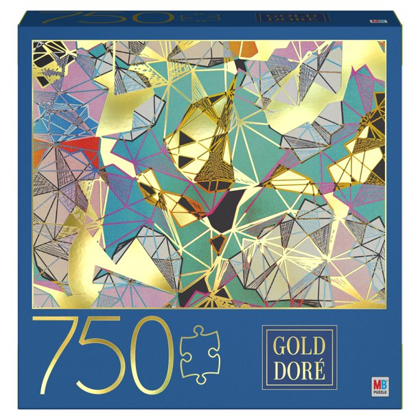 750-Piece Jigsaw Puzzle with Foil Accents, Geometric ...