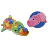 "16"" Seal to Rainbow Dolphin FlipaZoo 2 in 1 Plush"