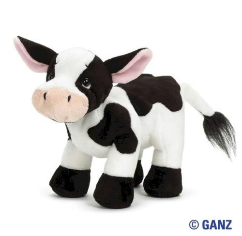 Cp Ganz Webkinz Holstein Black And Whie Cow Plush Toy Comes With