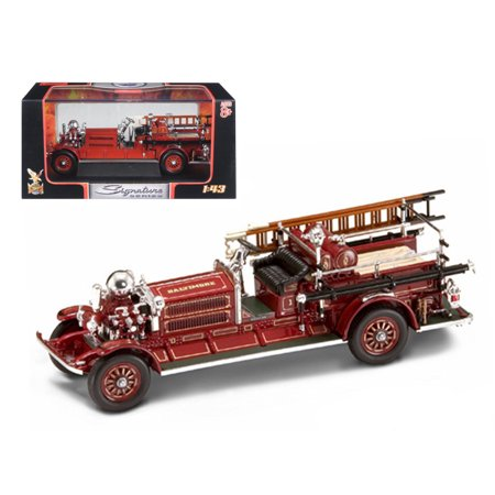 1925 Ahrens Fox N-S-4 Fire Engine Red 1/43 Diecast Car Model by Road Signature ()