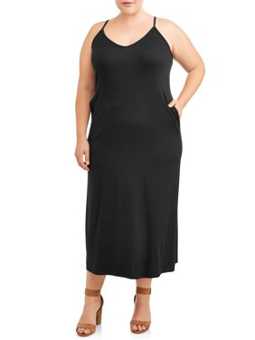 Love Sadie Women's Plus Size Maxi Dress With Pockets