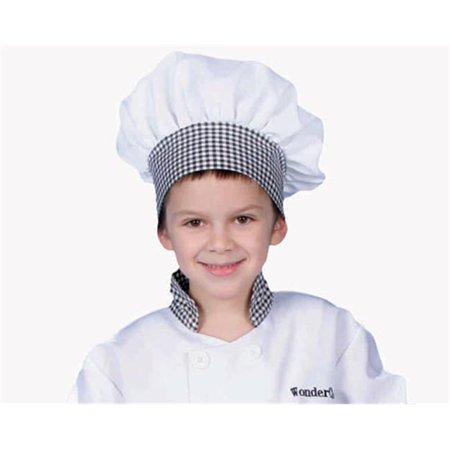 Dress Up America H214-B Black Gingham Chef Hat - Kids (I Love Lucy Chefs Hat)