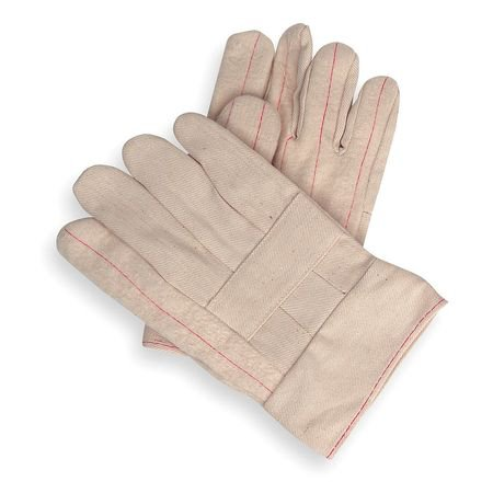 Condor  2AP57 Men's L White Cotton Hot Mill - Cotton Hot Mill Gloves