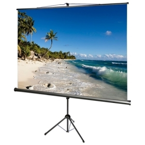119IN ACCUSCREENS TRIPOD SCREEN MATTE WHITE 1:1 84X84IN W/ KEYSTONE
