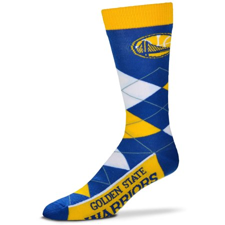 - Golden State Warriors For Bare Feet Argyle Crew Socks - No Size
