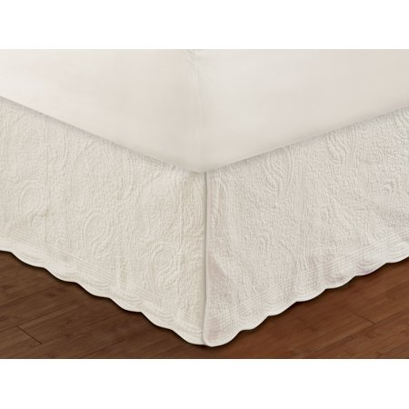 - Paige Quilted Ivory Bed Skirt 18