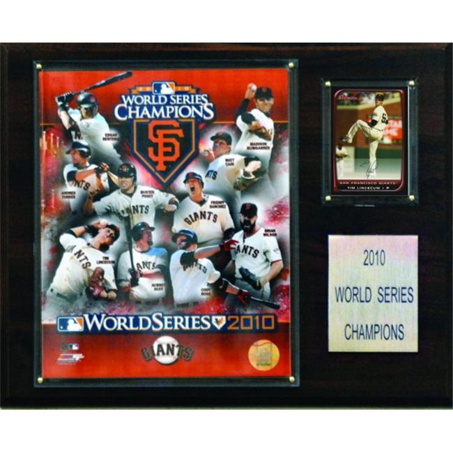 C & I Collectables 1215WS10 MLB San Francisco Giants 2010 World Series Championship Plaque