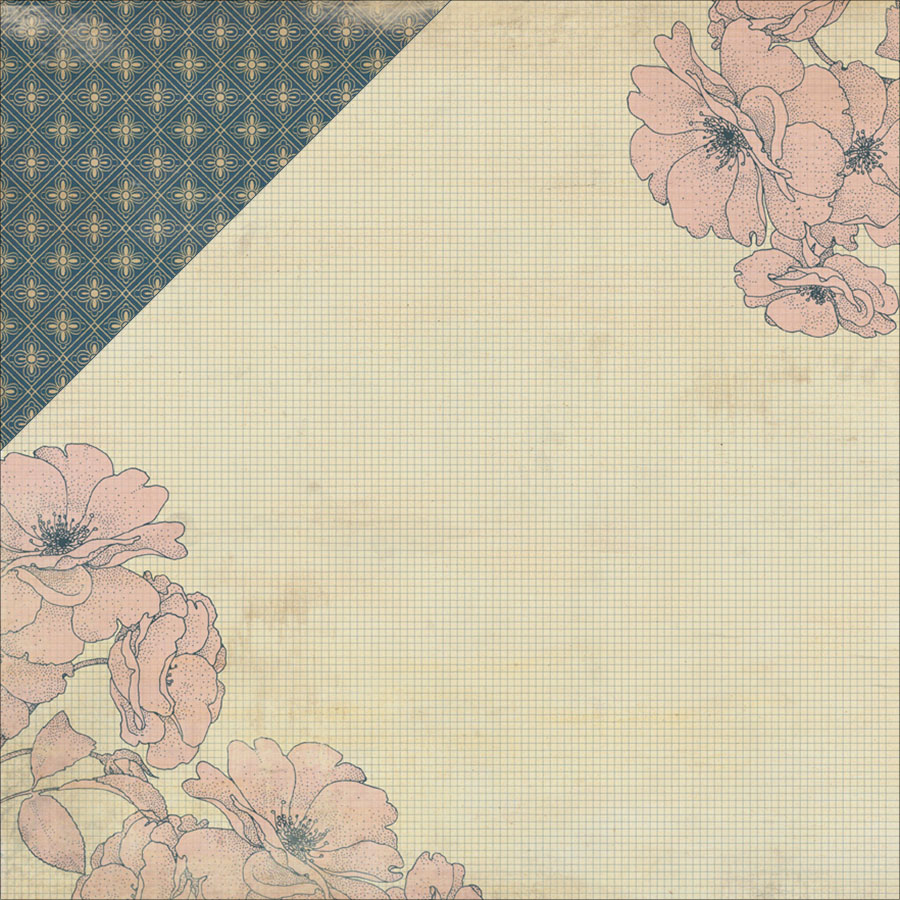 "Legacy Double-Sided Cardstock 12""X12""-Generation Floral Side/Floral Wallpaper"