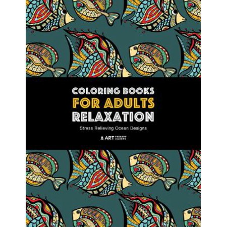 Coloring Books for Adults Relaxation : Stress Relieving Ocean Designs: Dolphins, Whales, Shark, Fish, Jellyfish, Starfish, Seahorses, Turtles; Creatures in the Deep Blue Sea; Stress-Free Patterns Underwater - Seahorse Merchandise