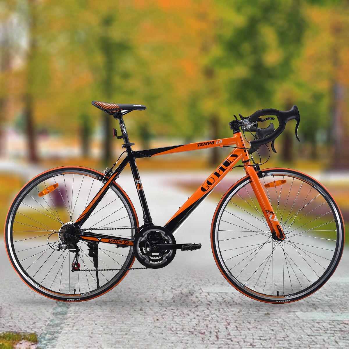 Goplus 700C 52cm Aluminum Road/Commuter Bike Bicycle 21 Speed Quick Release