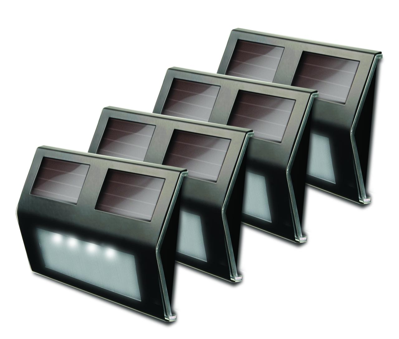 Metal Solar Deck Light Bronze pack of 4 by Maxsa Innovations