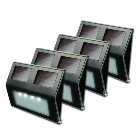 Metal Solar Deck Light   Bronze   Pack Of 4