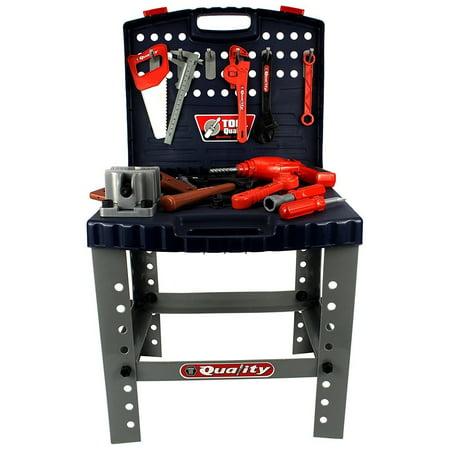 Children's Toy Catalogs (Quality Workbench Children's Kid's Pretend Play Toy Work Shop Tool Set w/ Tools,)