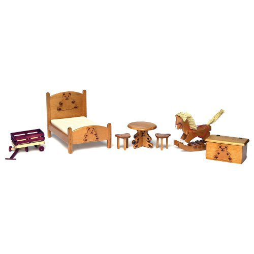 Bear Bedroom Dollhouse Miniature Set