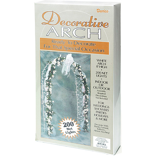 Darice 8' Decorative Arch, White