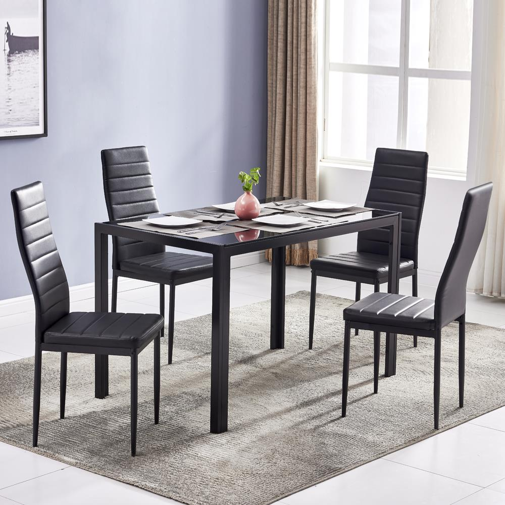 Zimtown 5 Pieces Modern Dining Table, Modern Dining Room Set
