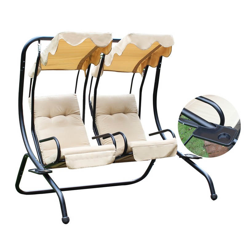 Joveco Canopy Awning Outdoor Porch Swings Chair