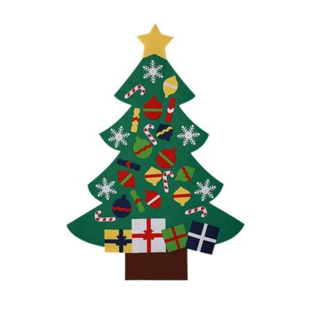 Christmas Tree Set Wall Hanging Detachable Ornaments 26pcs Xmas Gifts Children Friendly Christmas Home Decorations ()