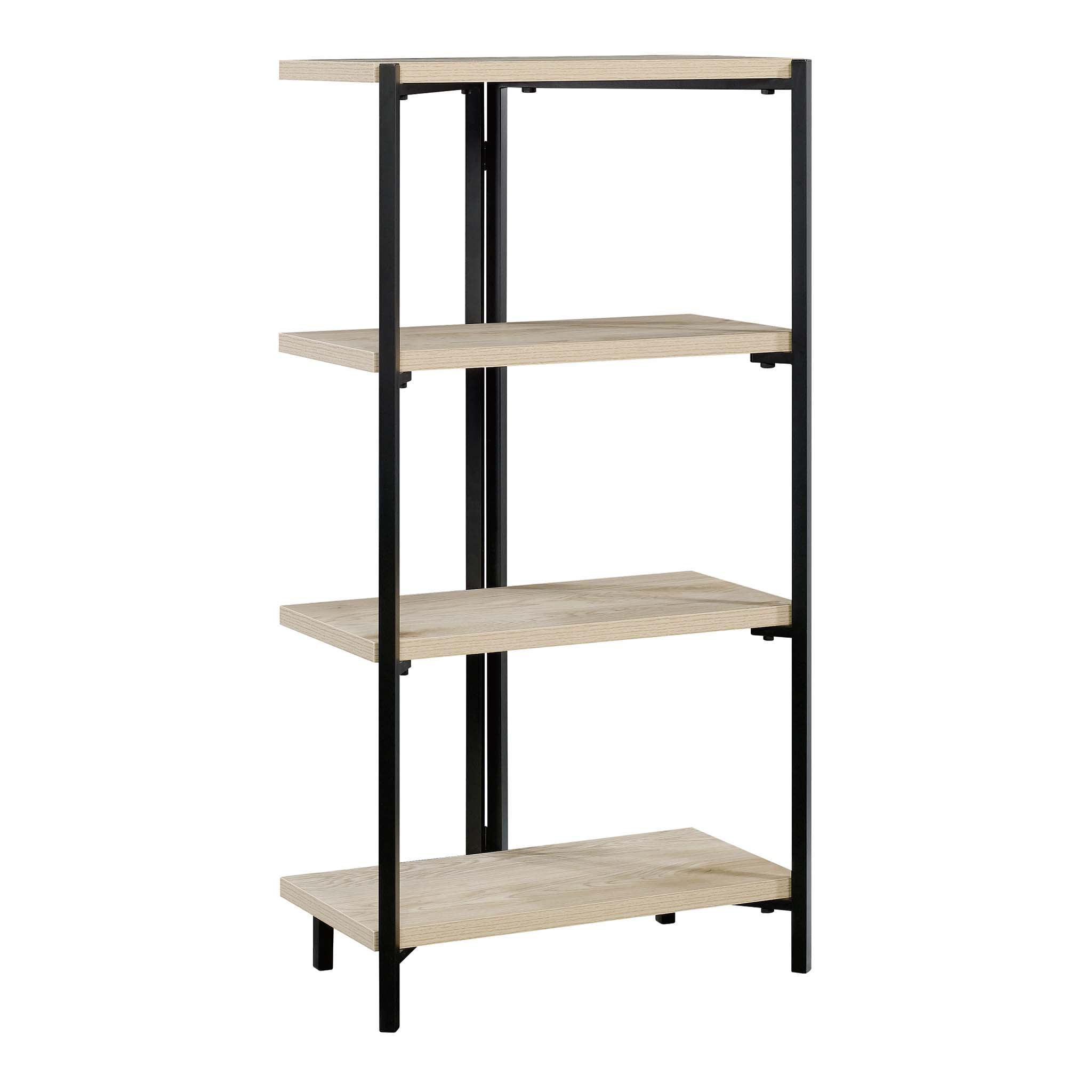 Mainstays No Tools 3 Shelf Bookcase, Natural Wood Finish