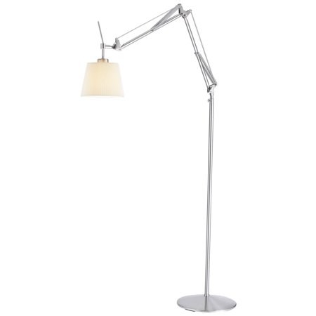 Adesso Architect Floor Lamp - Brushed Steel