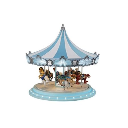 Mr. Christmas Animated Musical Frosted Carousel Decoration ()
