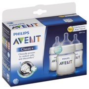 Philips Avent 4 Oz. BPA Free Classic Baby Bottles, 3 Pack