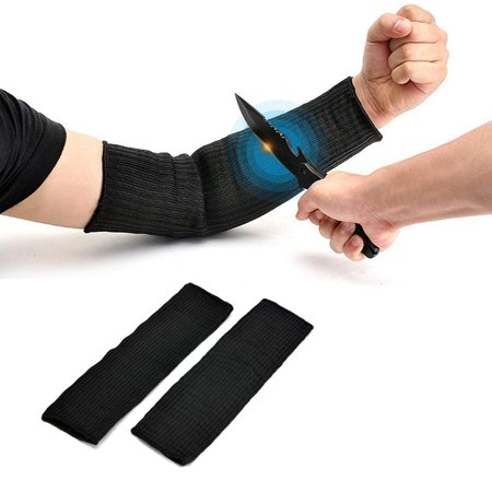 LAFGUR Level 5 Protection Durable Steel Wire Cut Resistant Sleeves,Outdoor UV-Protection Arm Guard Bracers Wire Cut Proof Bracer Wrist Armband Sleeve Scrapes and Scratches Resistant Skin