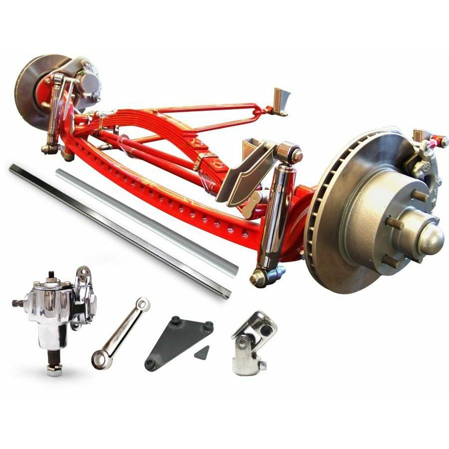 Universal 46'' Super Deluxe Four Link Drilled Solid Axle Kit 356 big block