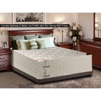 "WAYTON, 14-Inch Firm Double sided Tight top Innerspring Mattress And 4-Inch Split Metal Box Spring/Foundation Set With Frame, No Assembly Required, Good For The Back, Queen Size 79"" x 59"""