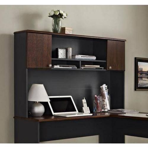 Altra Furniture The Works Hutch for L Desk, Cherry/Slate Gray