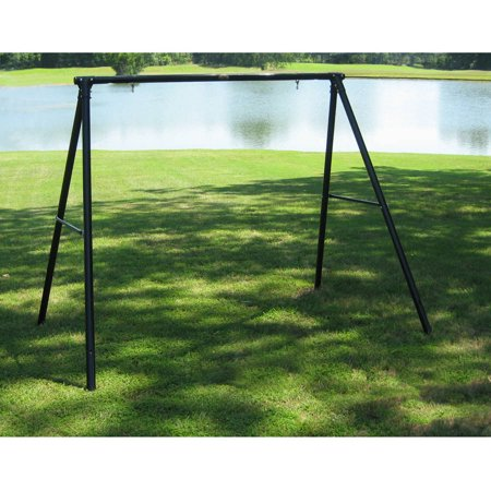 flexible flyer lawn swing frame black