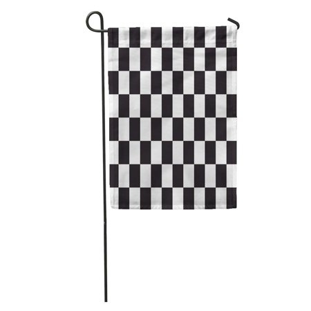 SIDONKU Pattern Checkered Racing Flag Symbolic of End Car Race Black and in Correct Size Colors Checker Garden Flag Decorative Flag House Banner 12x18 inch](Race Car Checkered Flag)