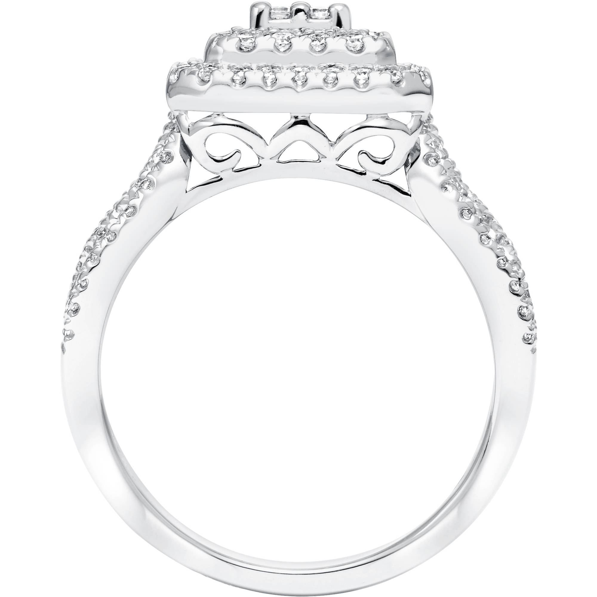 2 Carat Tw Diamond Sterling Silver Ring   Walmart