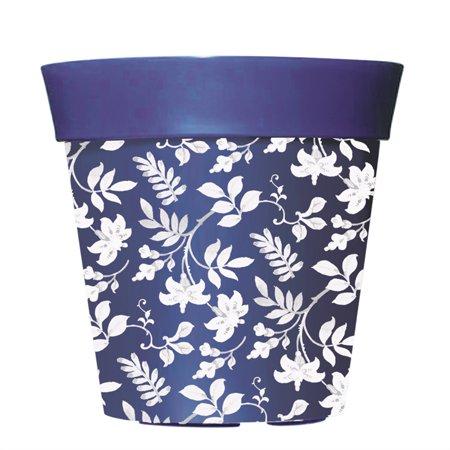 """8"""" Hum Pot, Blue Floral Garden"""