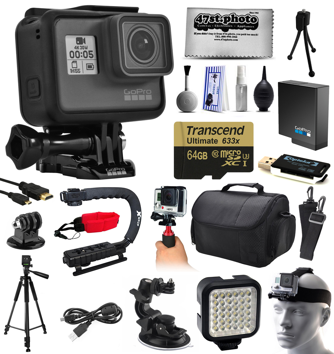 GoPro HERO5 Hero 5 Black Edition Action Camera with 64 GB...