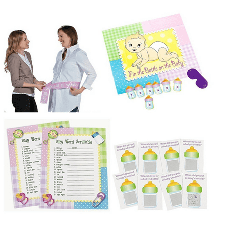 Baby Shower Games, 4 Fun Ready-to-Play Games! (Twin Baby Shower Games)