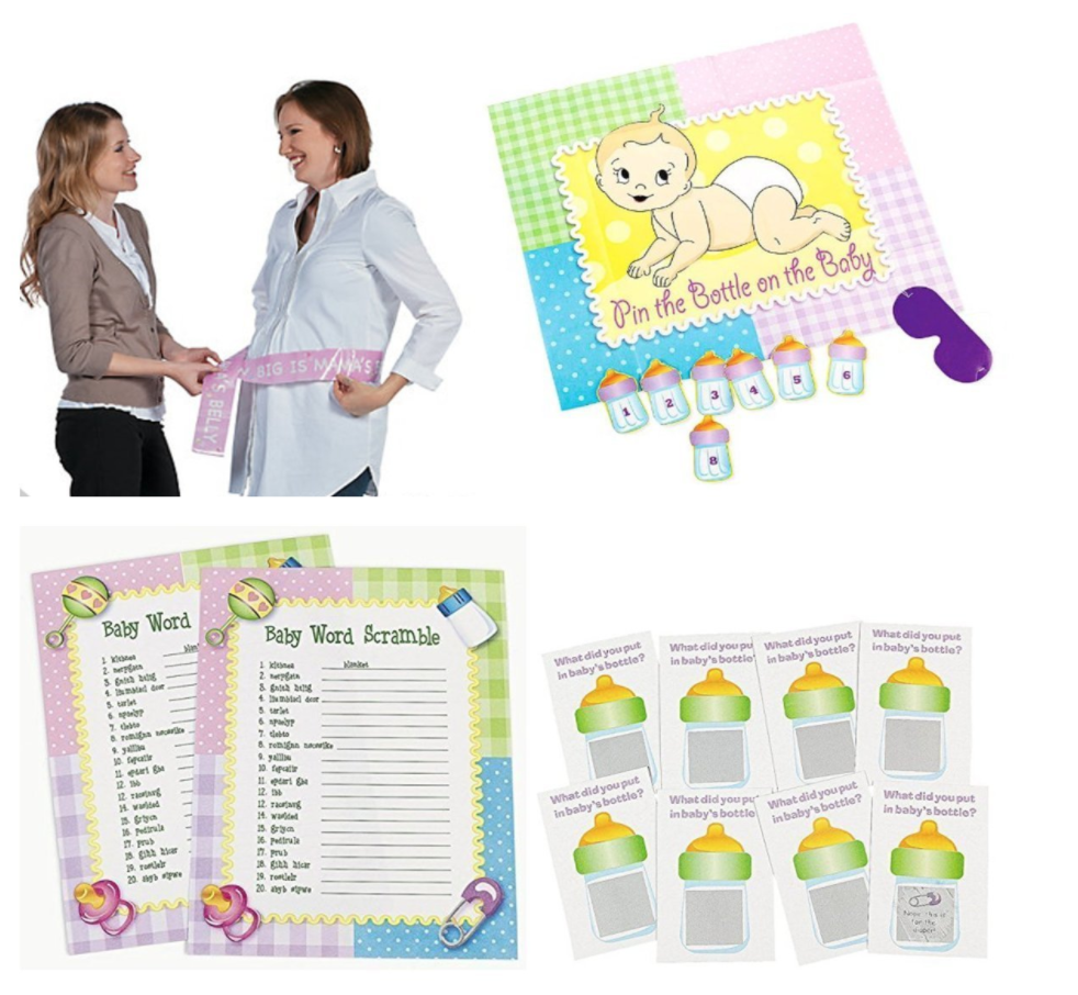 Baby Shower Games, 4 Fun Ready-to-Play Games!