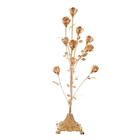- Great Mothers Day Gift, 24K Gold Plated Crystal Studded 10 Piece Rose Bouquet Ornament by Matashi