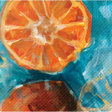 - Club Pack of 288 Fruit Expressions Oranges Premium 3-Ply Disposable Party Beverage Napkins 5