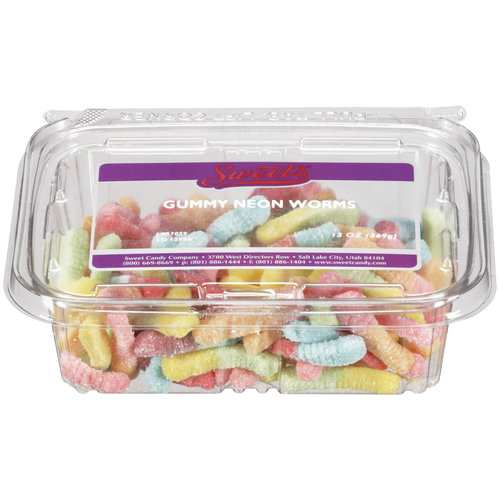 Sweet's Gummy Neon Worms Candy, 13 oz